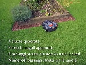 Husqvarna Automower does not pay attention to the complexity
