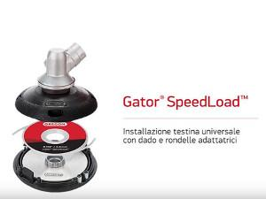 Oregon Gator SpeedLoad - Installation universal head with screw and washer adapter