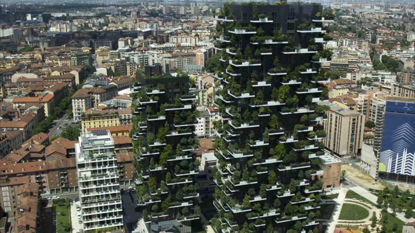 So work the flying gardeners of Bosco Verticale