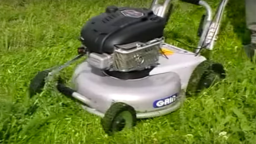 For professional cuts: the mower Grin