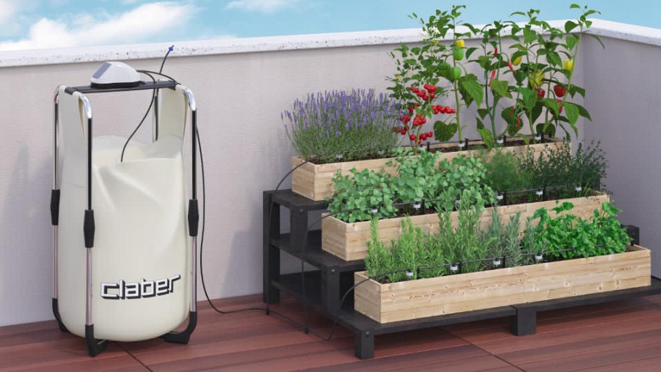 Automatic watering for terraces and roof gardens