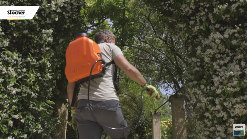 The lightest electric backpack pump