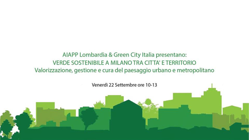 Valorize the urban green, a convention in Milan