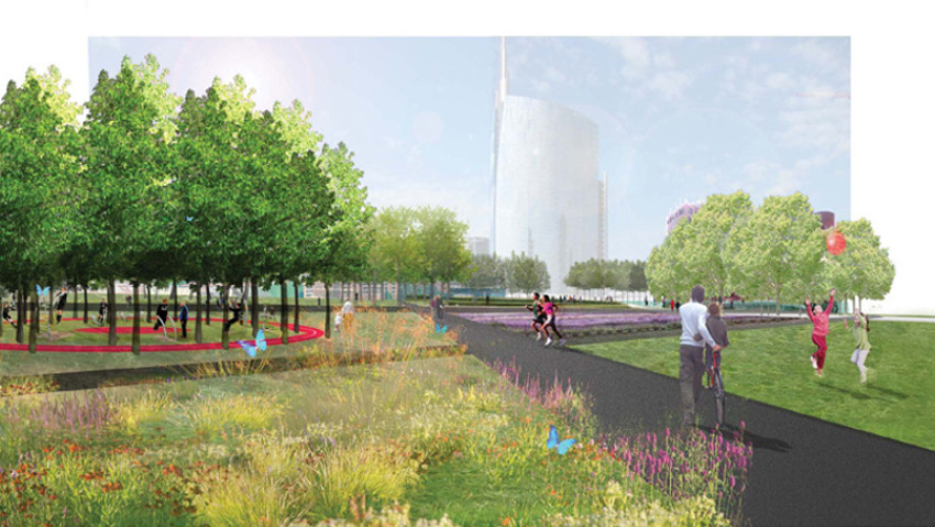 Collective seed for the new park in Milan