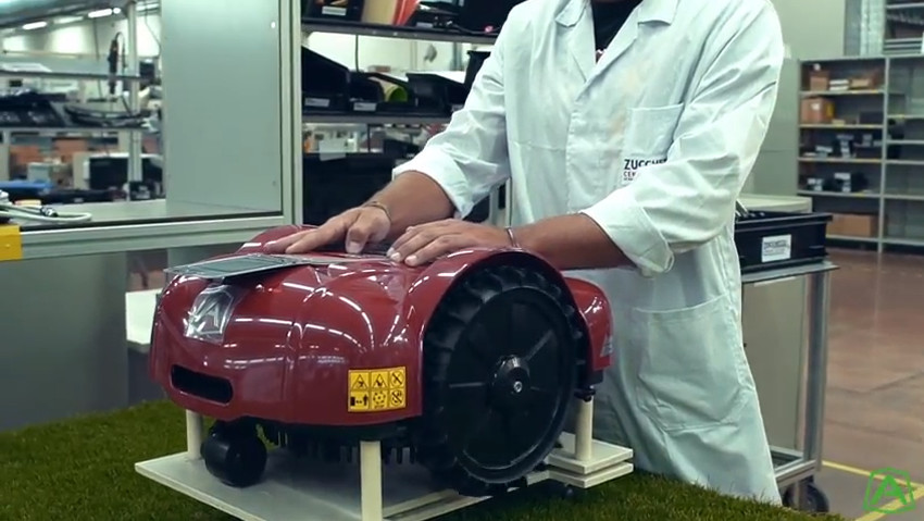 How a robotic lawnmower is born