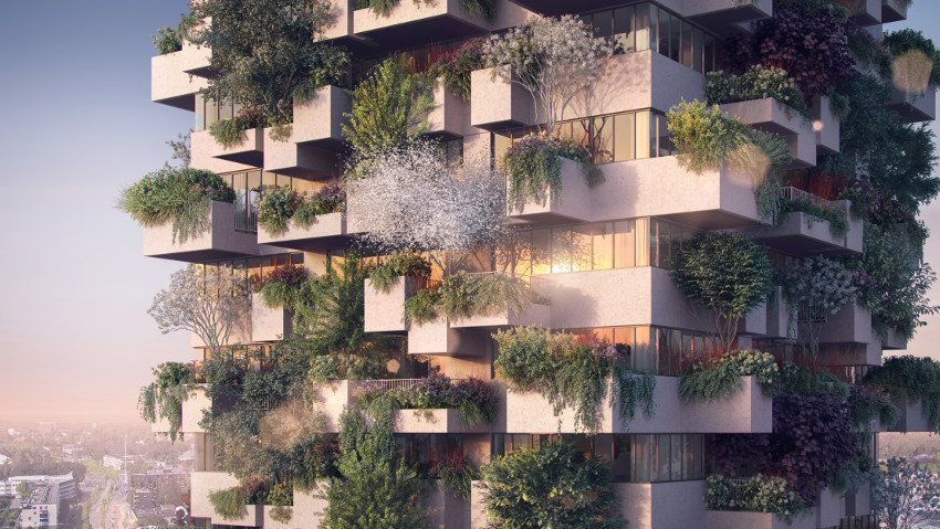 Urban green, the first vertical forest in social housing