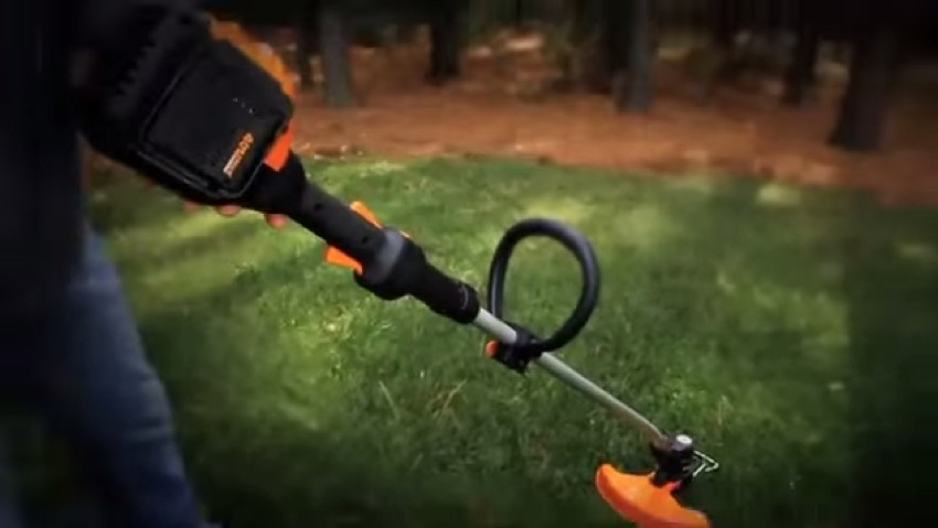 How does the trimmer Cordless Worx Wg168E work