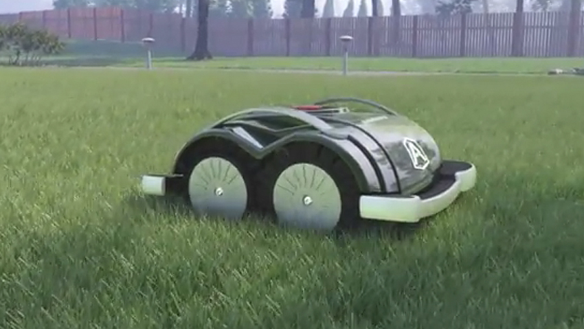 The robotic lawnmower ready to use without installation
