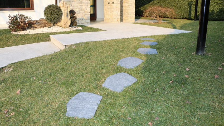 Preserve the lawn thanks to the Japanese steps