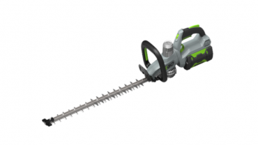 Light, sturdy and silent hedge trimmer