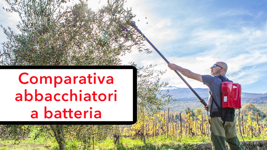 Presentation of battery-powered olive harvesters