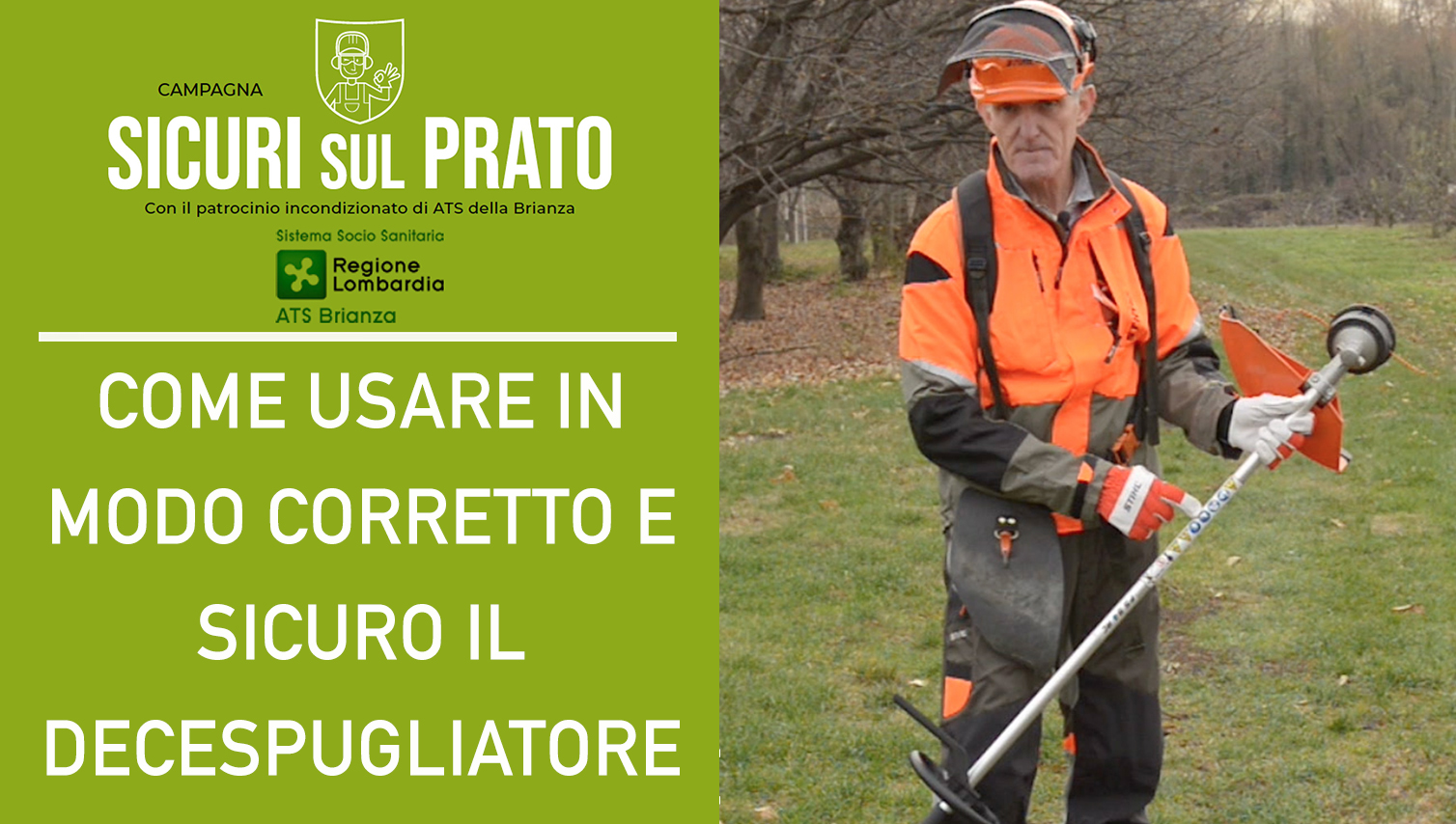 Regulations, PPE and advice for the use of the brush cutter