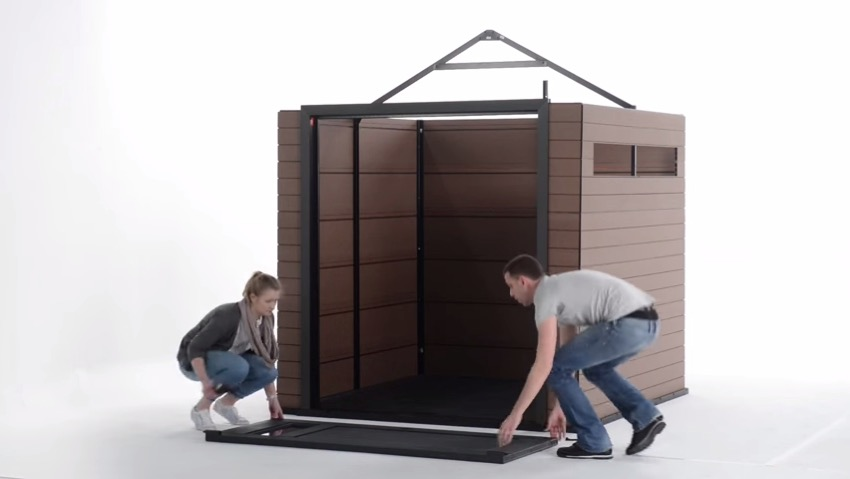 Installation of Keter shed Fusion