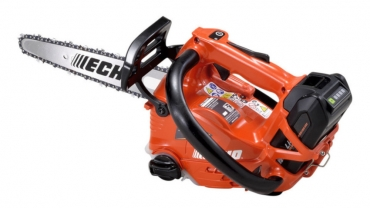 Powerful and light battery-powered pruning chainsaw