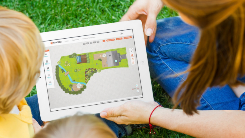 Designing the garden and irrigation online