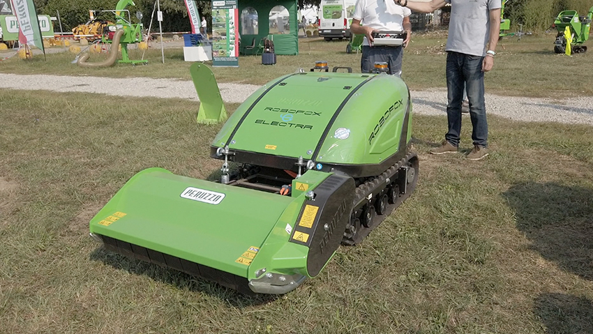 The first hybrid or electric radio-controlled mower