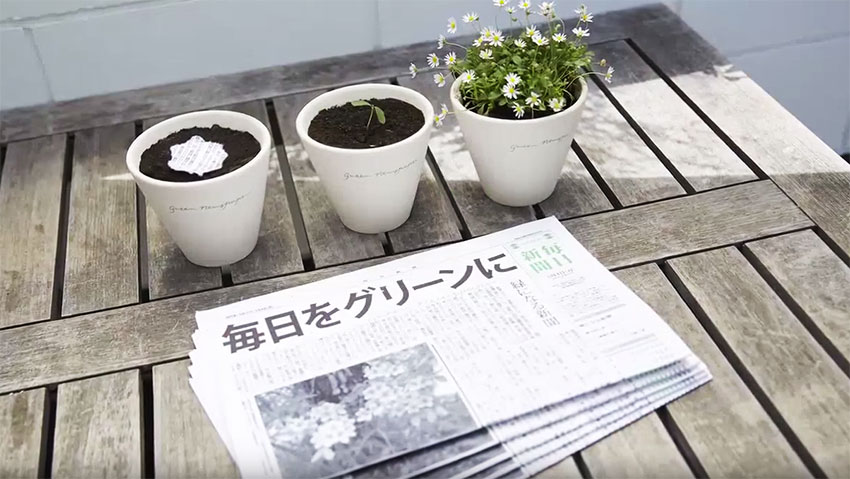 The newspaper that you plant and becomes garden