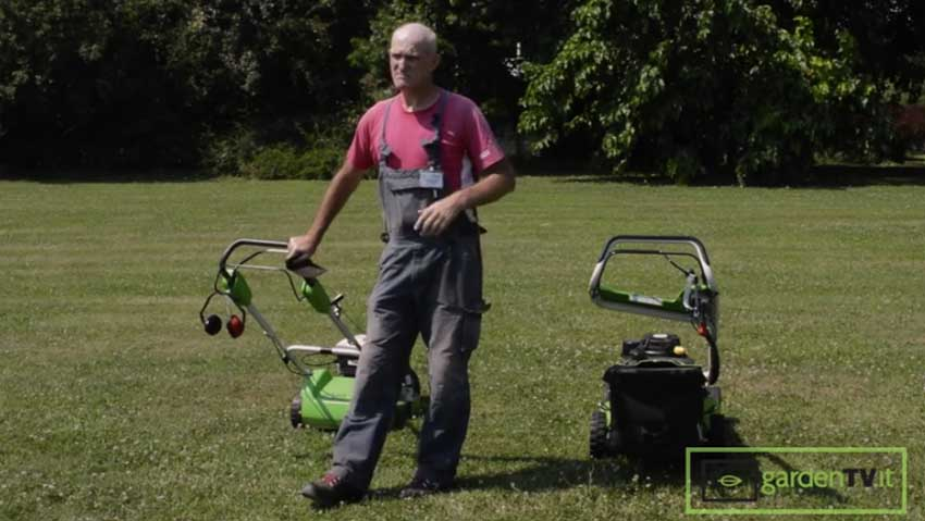 Mower with grass collection or mulching