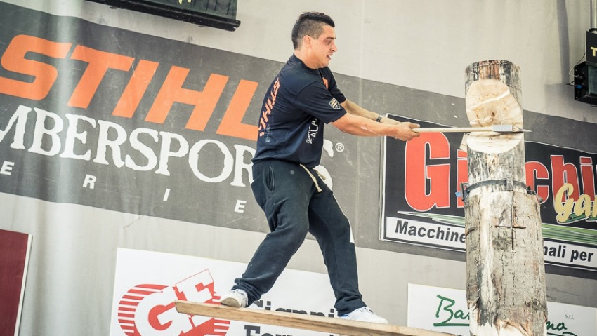 Great show at the Italian Championship Stihl Timbersports