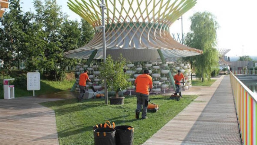 The care of green spaces in Expo Milano 2015