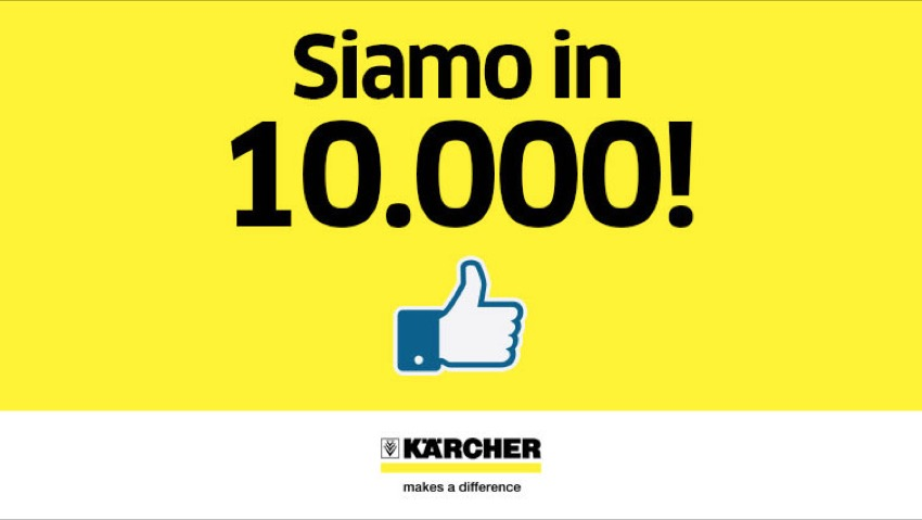 Kärcher, 10,000 like for the social profile
